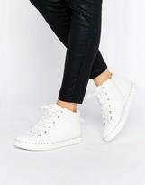 Aldo Drina White High Top Sneakers