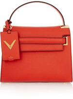 Valentino My Rockstud Leather Tote - Coral