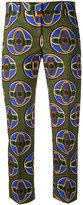 Aspesi cropped printed trousers - women - Cotton - 44