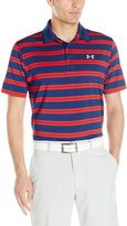 Under Armour Men's Groove Stripe Polo, Blackout Navy