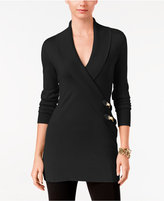 INC International Concepts Faux-Wrap Tunic Sweater, Only at Macy's