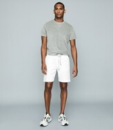 Reiss Kingsland - Towelling Crew Neck T-shirt in Soft Grey