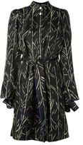 Proenza Schouler belted branch print dress
