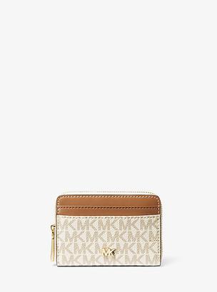 MICHAEL Michael Kors MK Small Logo and Leather Wallet - Vanilla/acorn - Michael Kors