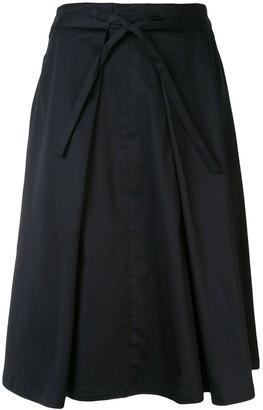 Izzue drawstring A-line skirt