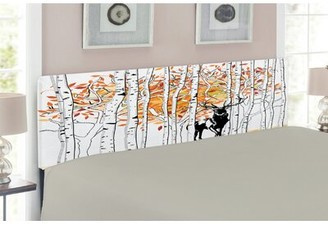 East Urban Home Deer Queen Upholstered Panel Headboard Size: Queen