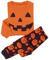 DD-CM Little Boys' Halloween Pumpkin Two Piece Pajama Set Pants PJ Set (, .)