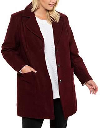 Ulla Popken Women's Onlqueen L/s Glitter Twist Dress JRS Blouse,24 (Size: 50+)