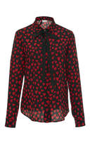 RED Valentino Silk Crepe De Chine Heart Print Blouse