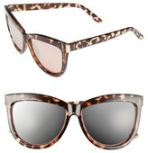 BP Junior Women's 58Mm Mirror Cat Eye Sunglasses - Rose Gold/ Tort