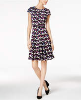 Jessica Howard Belted Geo-Print Dress
