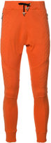 Balmain quilted panel track pants - men - Cotton - M