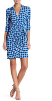Maggy London Star Tile Printed Wrap Dress