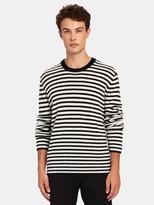 ATM Anthony Thomas Melillo Cashmere Stripe Crewneck Sweater