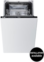 Whirlpool ADG211 Built-In 10-Place Slimline Dishwasher - Stainless Steel