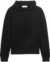 IRO + Anja Rubik Onassis Cotton-jersey Hooded Top - Black