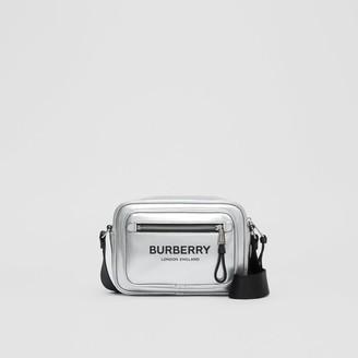 Burberry Metallic Coated Canvas Crossbody Bag