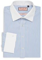 Thomas Pink Martel Slim-Fit Striped Cotton Dress Shirt