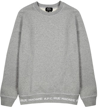 A.P.C. Grey logo cotton sweatshirt