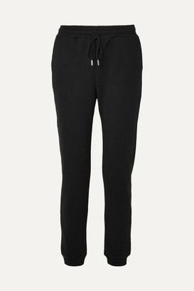Ninety Percent Organic Cotton-jersey Track Pants - Black