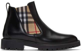 Burberry Black Allostock M Chelsea Boots