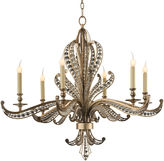 John-Richard Collection Beaded 6-Light Chandelier, Silver