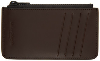 Maison Margiela Black and Brown Zippered Card Holder