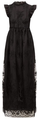 Brock Collection Patricia Ruffled Guipure-lace Dress - Womens - Black