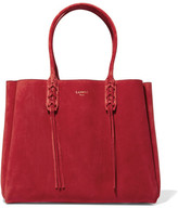 Lanvin The Shopper Suede Tote - Red