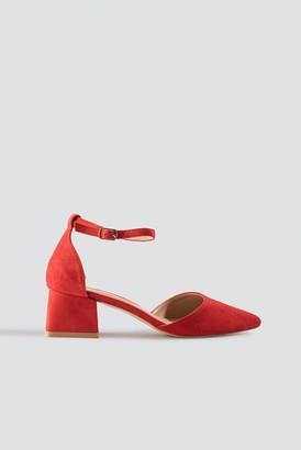 Raid Noely Low Block Heel Red