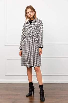 J.ING Mod About You Gingham Coat