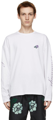Saturdays NYC White Rose Long Sleeve T-Shirt