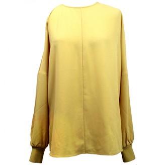 Tibi Yellow Synthetic Tops