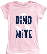 Urban Smalls Light Pink 'Dino Mite' Fitted Tee - Toddler & Girls