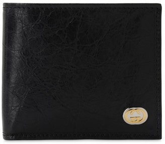 Gucci Gg Metal Logo Leather Classic Wallet