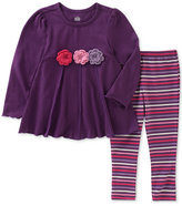 Kids Headquarters 2-Pc. Floral Tunic & Striped Leggings Set, Baby Girls (0-24 months)