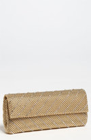Whiting & Davis 'Crystal Chevron' Flap Clutch - Metallic