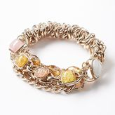 Vera Wang Simply vera gold tone bead multistrand stretch bracelet