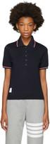 Thom Browne Navy Short Sleeve Polo