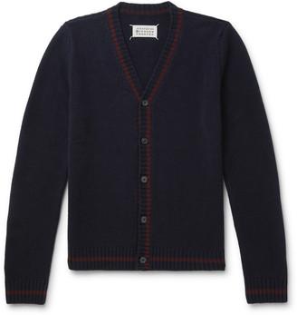 Maison Margiela Contrast-Tipped Wool Cardigan
