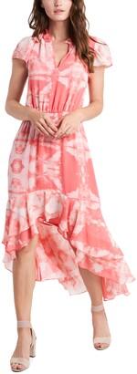 1 STATE High/Low Tie Dye Dress