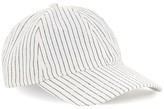 Topman Men's Stripe Boys Curved Peak Cap - White