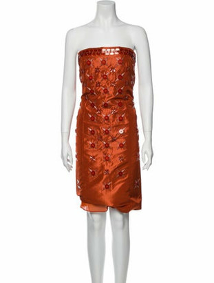 Maison Margiela Printed Mini Dress Orange