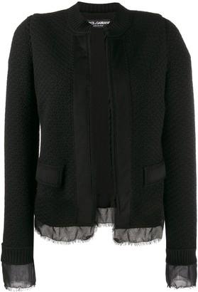 Dolce & Gabbana bouclé tweed jacket