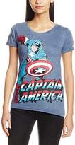 Marvel Women's Captain America Comic Drawing T-Shirt