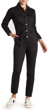 Sam Edelman Denim The Coverall Tie-Waist Jumpsuit