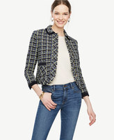 Ann Taylor Plaid Tweed Jacket