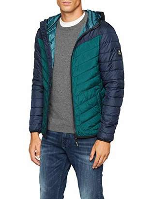 Tom Tailor Men's Leichte Fake Daunenjacke Down Long Sleeve Jacket,Large