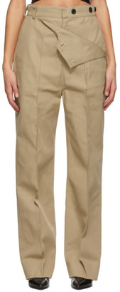 Markoo Beige The Flap Over Trousers