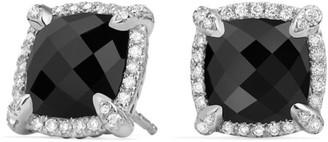 David Yurman Chatelaine Pave Bezel Earring with Gemstone & Diamonds/9mm